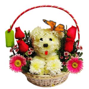 Arreglos Florales de Perrito