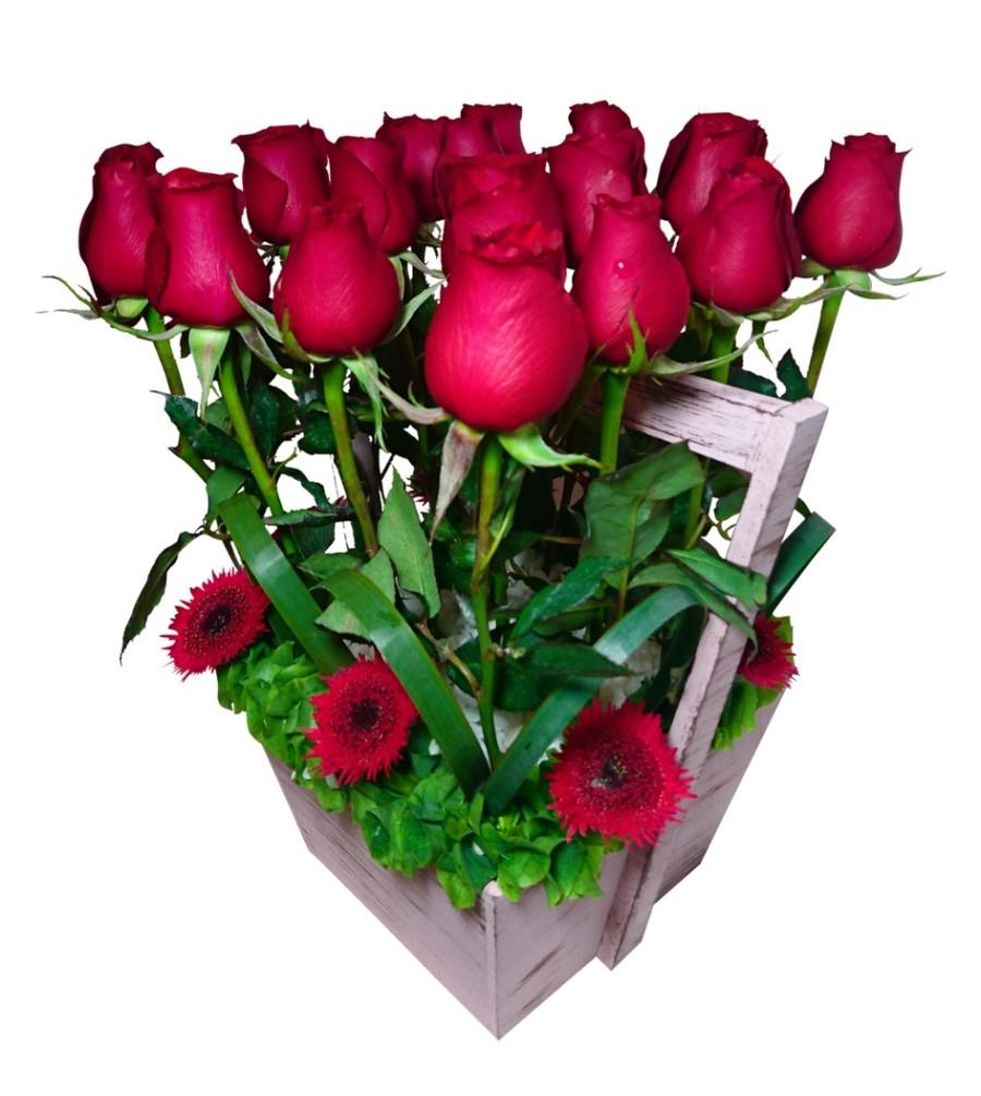 Areglo floral de rosas