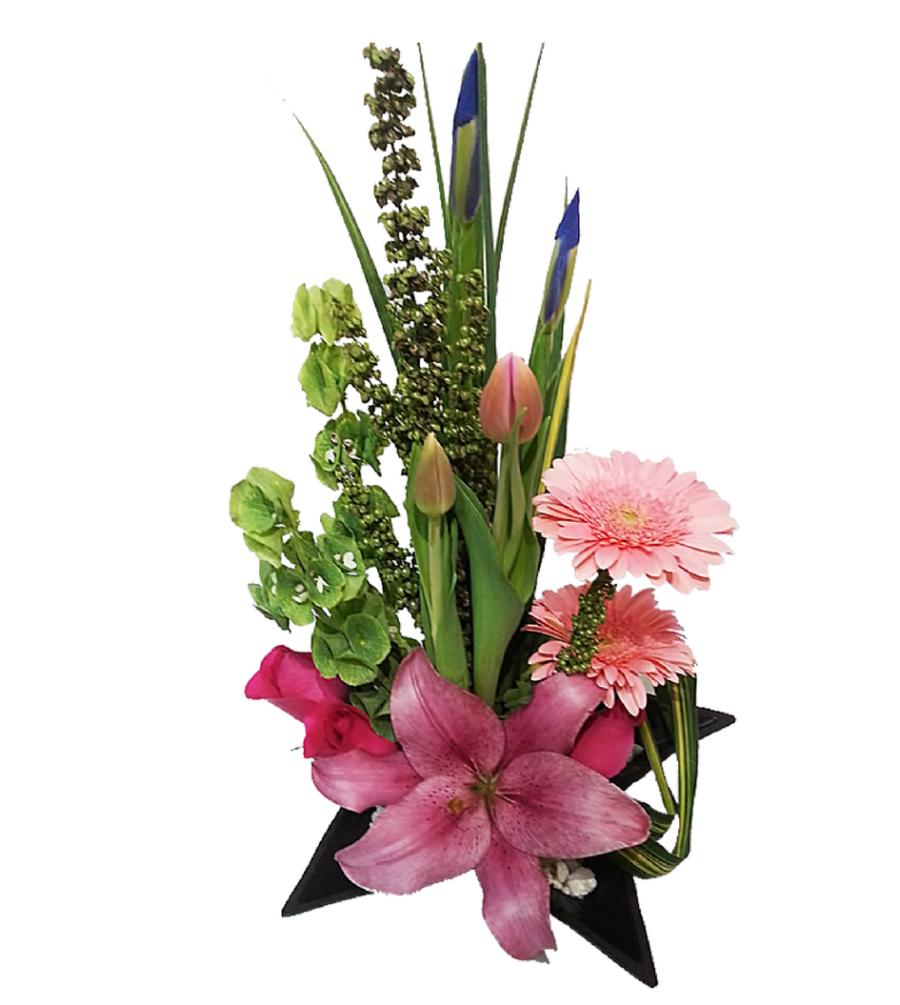 arreglos florales de tulipanes