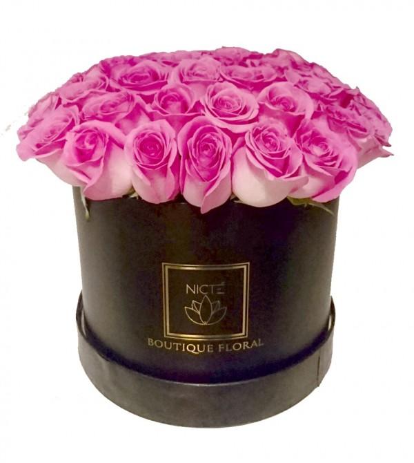 Rosas En Caja Lila
