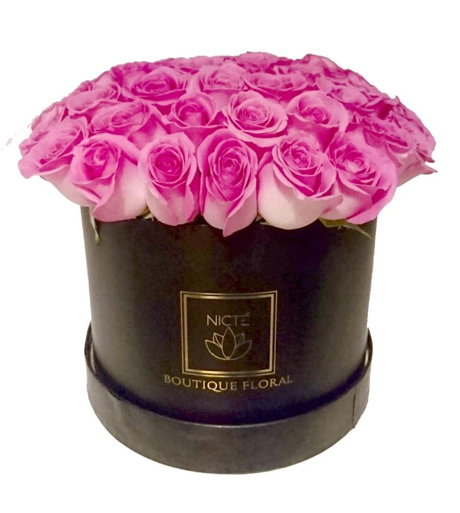 Rosas en Caja color Lila