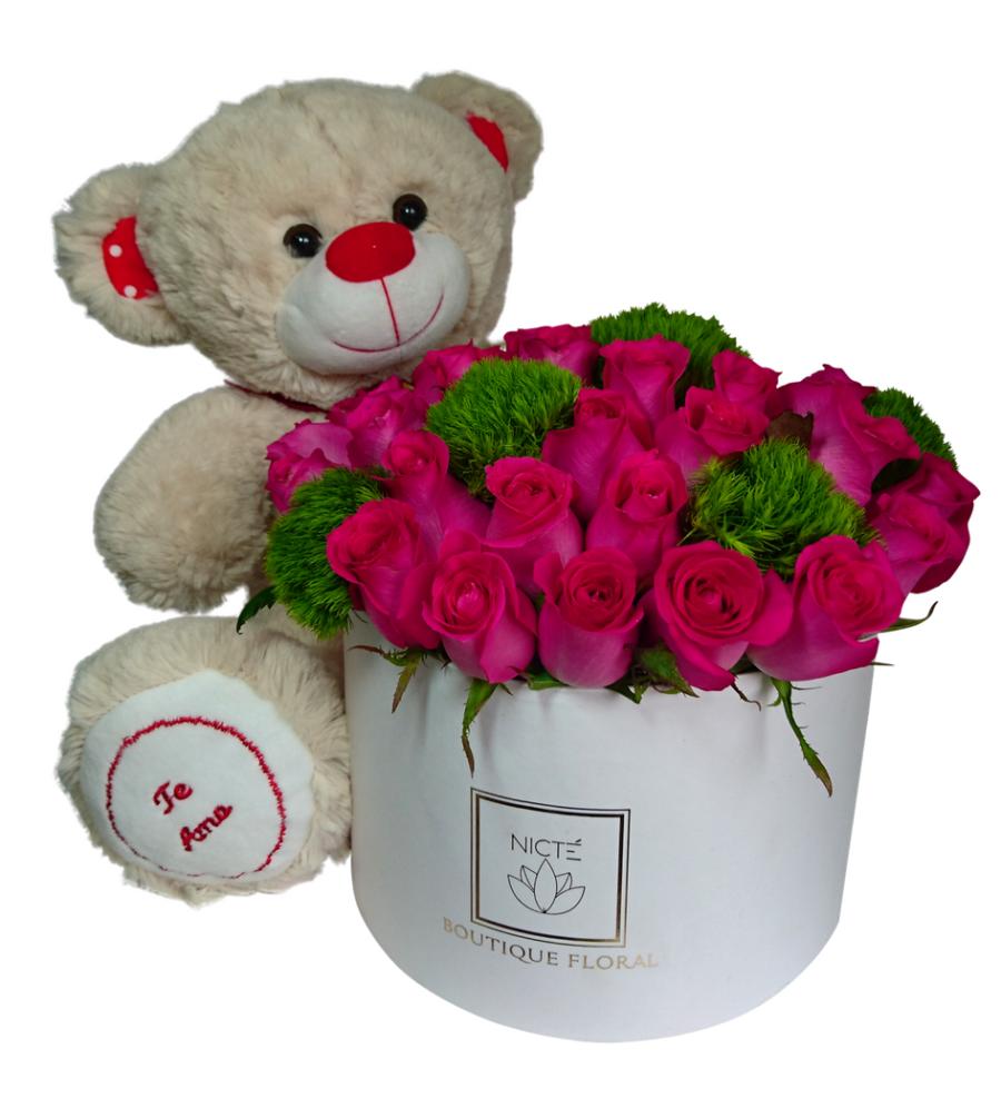 Caja de Rosas Rosa
