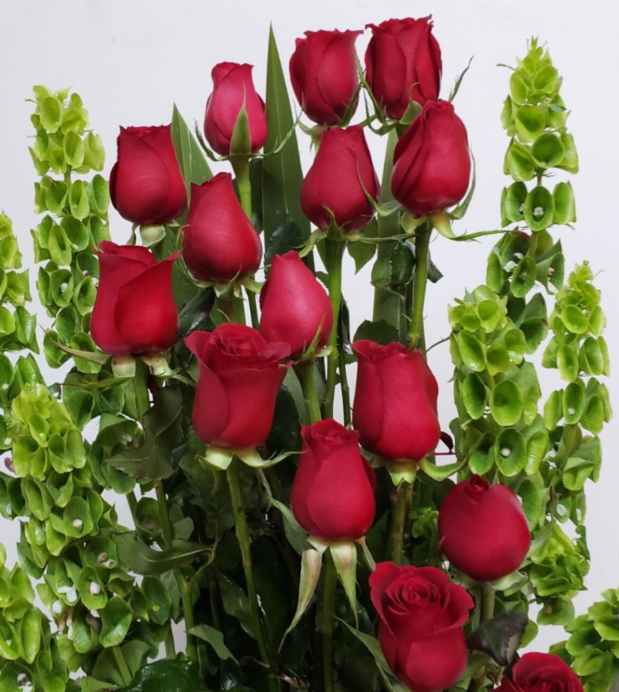 Arreglo de rosas escalonadas