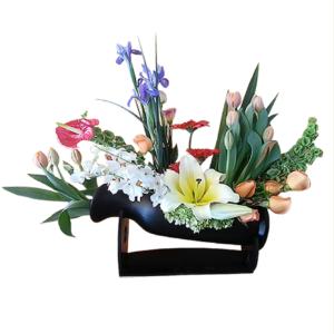 Arreglo floral elegante fina base