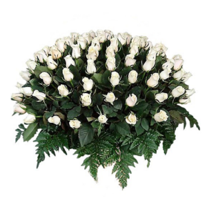 Arreglo de rosas blancas 100 piezas