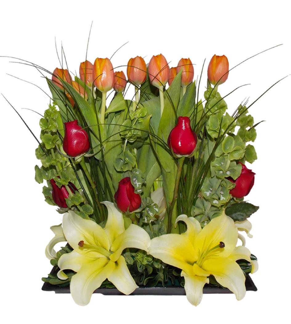 17c67865f9421 Arreglo de tulipanes naranjas - Flores Nicté