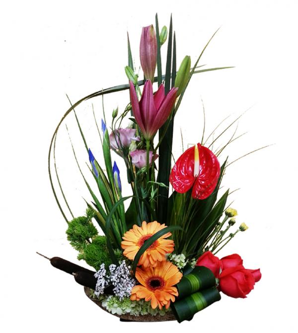 Arreglo de flores exóticas