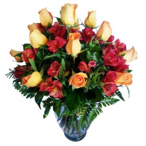 Flores naturales en florero