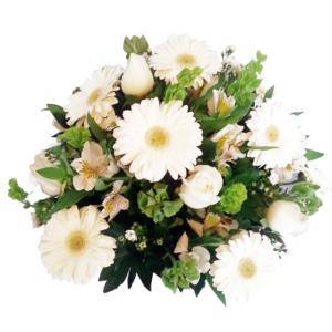 Arreglo de flores mixtas en canasta
