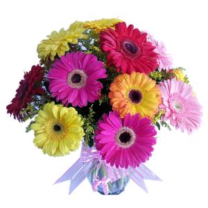 Arreglos florales naturales de gerberas
