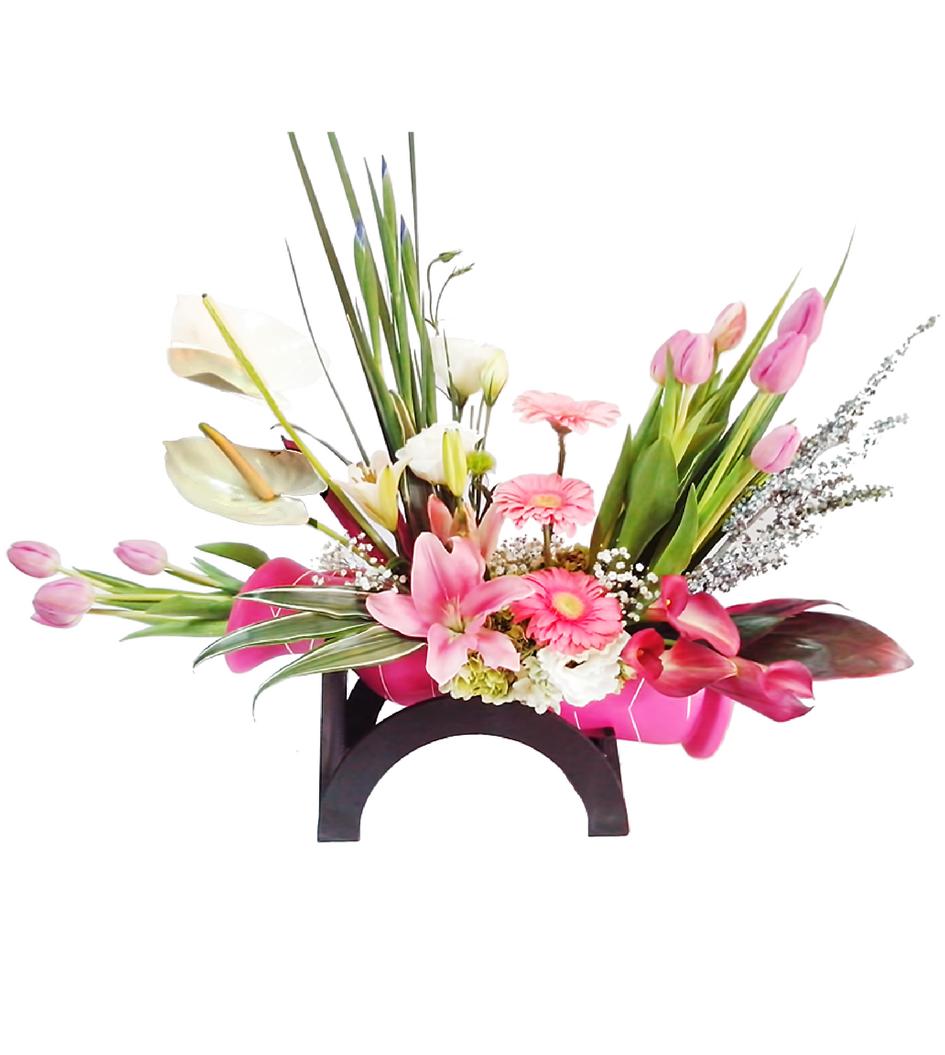 d45b6eb40d530 Arreglo de flores mixto de tulipanes - Flores Nicté