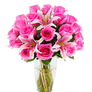 Florero de rosas y flores de Acapulco