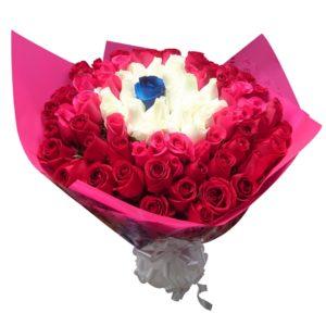 Ramo de rosas rojas 51 piezas