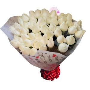 Ramo de rosas blancas 100 piezas
