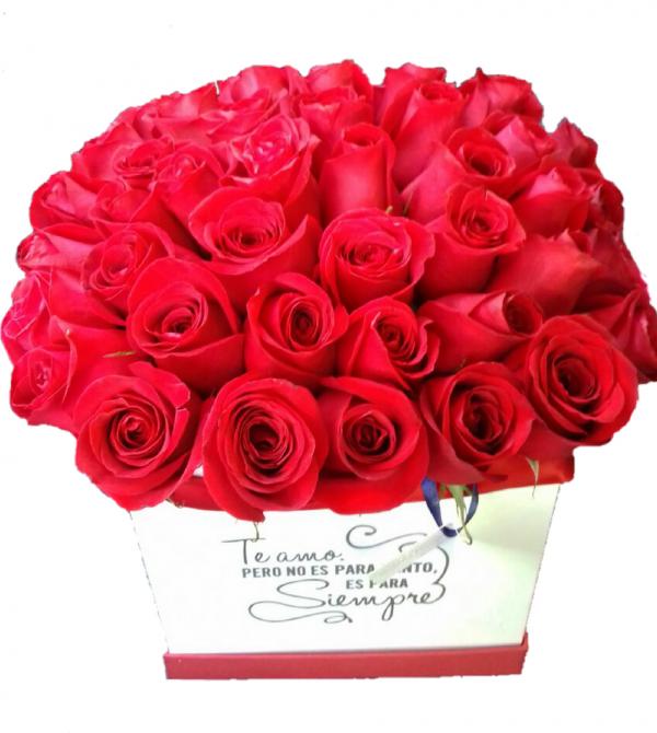 Caja de rosas te amo