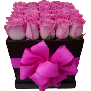 Caja de rosas negra 25 piezas