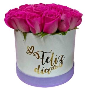 Caja de flores «Feliz Día»