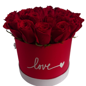 Caja de rosas «Love»