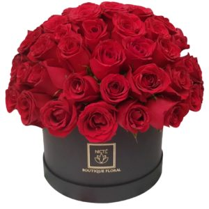 Caja de rosas rojas luxury