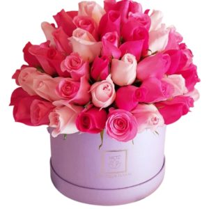 Caja de rosas de 3 colores luxury