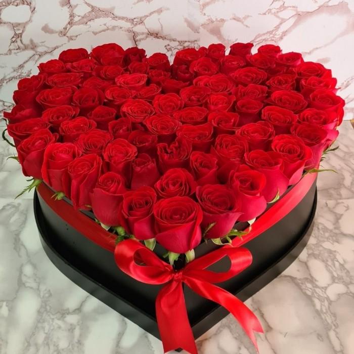 Caja de Rosas Rojas